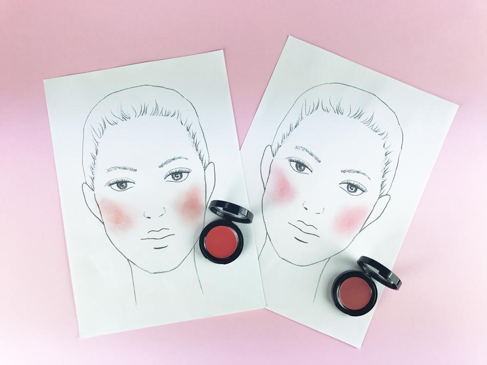 Aprende como elegir el colorete en crema más adecuado según la forma de tu rostro