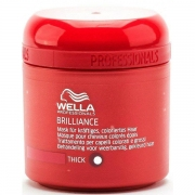 Comprar MASCARILLA BRILLIANCE THICK -PROTECTOR DE COLOR CABELLO GRUESO- 150ML WELLA