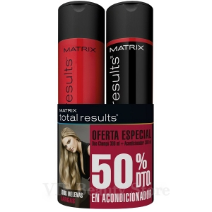 DÚO REPARADOR SO LONG DOMAGE Champú 300ml y Acondicionador 300ml TOTAL RESULTS MATRIX