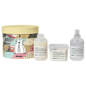 BOX CURL GALACTIC -LOVE CURL CHAMPÚ 250ML  LOVE CURL ACONDICIONADOR 250ML  LOVE CURL REVITALIZER 250ML- DAVINES