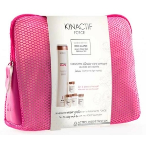 KINACTIF FORCE Pack Anticaída CHAMPÚ 250 ml  COMPLEXE TRICO ACTIVE 12x6 ml   NECESER. KIN COSMETICS