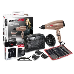 PACK SECADOR RAPIDO ORO ROSA PROFESSIONAL HAIRSTYLE BOX P1035E BABYLISS PRO