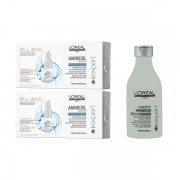 Comprar Pack Anti-caída Temporal. 2 Cajas Aminexil Advanced 10x6ml. Champu Density Advance 250ml. L'Oréal Professionnel.