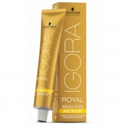 TINTE PERMANENTE ESPECIAL CANAS -IGORA ROYAL ABSOLUTES- 60ML SCHWARZKOPF