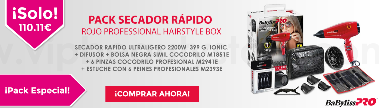 PACK SECADOR RAPIDO ROJO PROFESSIONAL HAIRSTYLE BOX P1035E BABYLISS PRO